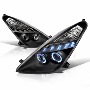00-05 Toyota Celica Halo LED Projector Headlights - Black