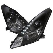 00-05 Toyota Celica LED DRL Projector Headlights - Black