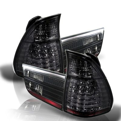 00-06 BMW X5 E53 Euro Style LED Tail Lights - Smoked ALT-YD-BE5300-LED-SM By Spyder
