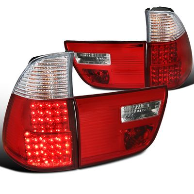 00-06 BMW X5 E53 LED Tail Lights - Red Clear