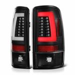 00-06 Chevy Suburban / Tahoe / GMC yukon LED Tube Tail Lights - Black