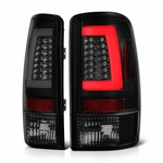 00-06 Chevy Suburban / Tahoe / GMC yukon LED Tube Tail Lights - Black Smoked