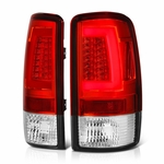 00-06 Chevy Suburban / Tahoe / GMC yukon LED Tube Tail Lights - Red Clear