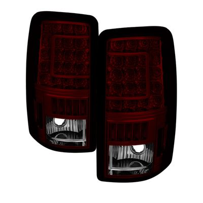 00-06 Chevy Suburban / Tahoe|GMC Yukon Red Smoked C-Shaped LED Tail Lights