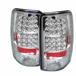 00-06 Chevy Tahoe / Suburban / Yukon Euro LED Tail Lights - Chrome ALT-YD-CD00-LED-C By Spyder