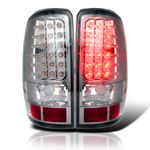00-06 Chevy Tahoe / Suburban / Yukon Euro LED Tail Lights - Chrome