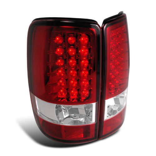 00-06 Chevy Tahoe / Suburban / Yukon Euro LED Tail Lights - Red / Clear