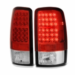 00-06 Chevy Tahoe / Suburban / Yukon Euro LED Tail Lights - Red Clear ALT-YD-CD00-LED-RC By Spyder