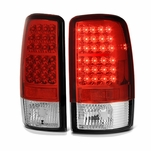 00-06 Chevy Tahoe / Suburban / Yukon Euro LED Tail Lights - Red Clear