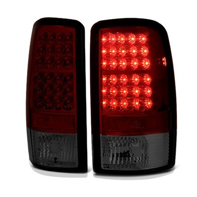00-06 Chevy Tahoe / Suburban / Yukon Euro LED Tail Lights - Red Smoked ALT-YD-CD00-LED-RS By Spyder