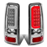00-06 GMC Yukon / Chevy Suburban / Tahoe Chrome Housing Clear Lens 3D LED Brake Tail Lights
