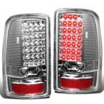 00-06 GMC Yukon / Chevy Suburban / Tahoe Chrome Housing Clear Lens LED Brake Tail Lights