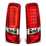 00-06 GMC Yukon / Chevy Suburban / Tahoe Chrome Housing Red Lens 3D LED Brake Tail Lights