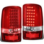 00-06 GMC Yukon / Chevy Suburban / Tahoe Chrome Housing Red Lens LED Brake Tail Lights