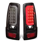 00-06 GMC Yukon / Chevy Suburban / Tahoe Chrome Housing Smoked Lens 3D LED Brake Tail Lights