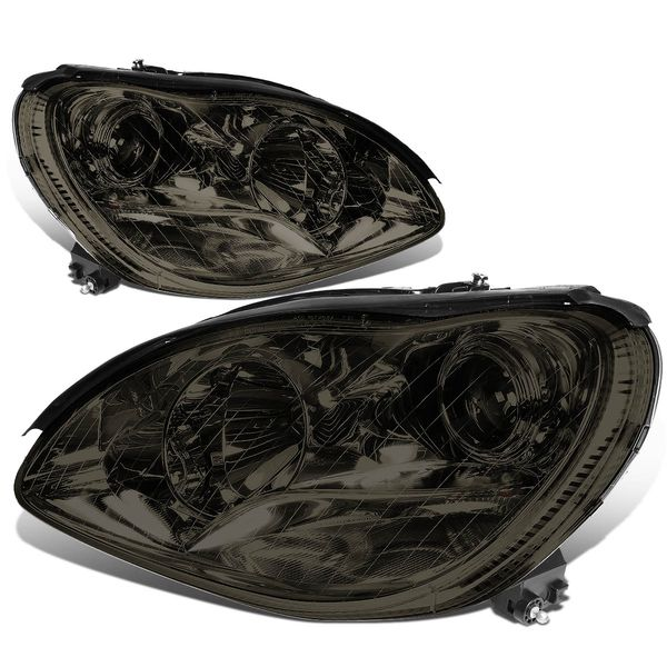 00-06 Mercedes-Benz S-Class W220 [Halogen Model Only] Projector Headlight Smoked