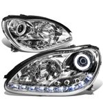 00-06 Mercedes-Benz S-Class W220 LED DRL & Halo Projector Headlight  - Chrome
