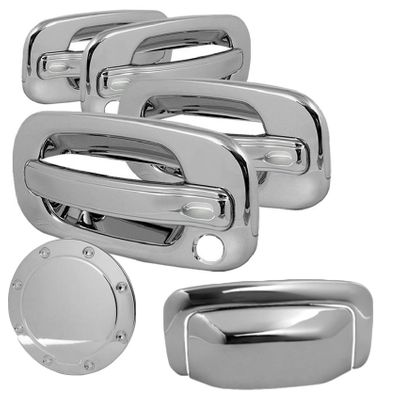 00-06 SUBURBAN 4DR GAS TANK+TAILGATE TAIL GATE+DOOR HANDLE CHROME COVERS 6PC SET