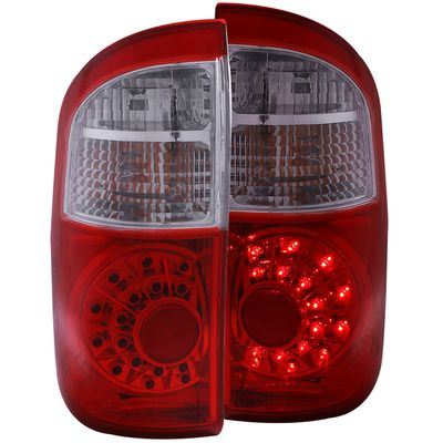 00-06 Toyota Tundra (Double Cab) LED Euro Tail Lights - Red / Clear