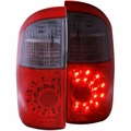 00-06 Toyota Tundra Double Cab (Standard Bed) LED Tail Lights - Red / Smoke
