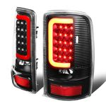 00-06 Yukon Denali / Chevy Suburban / Tahoe 3D LED Tail Brake Lights (Black Housing Clear Lens)