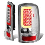 00-06 Yukon Denali / Chevy Suburban / Tahoe 3D LED Tail Brake Lights (Chrome Housing Clear Lens)