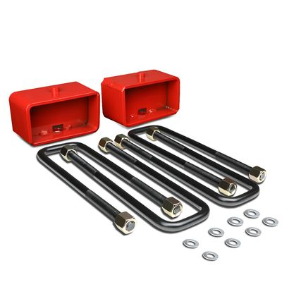 """00-18 Toyota Tundra Red 3"""" Rear Leaf Spring Mount Suspension Leveling Lift Kit"""