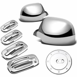 00 Tahoe Yukon 4Dr Chrome Gas Tank Door Handle W Passenger Keyhole Mirror Cover