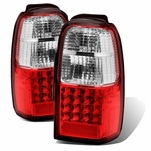 01-02 Toyota 4Runner Euro Style LED Tail Lights - Red/ Clear