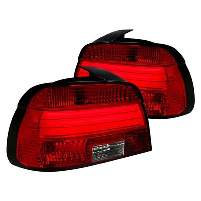 01-03 BMW E39 5-Series LED Tube Tail Lights - Red