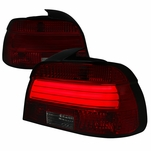 01-03 BMW E39 5-Series LED Tube Tail Lights - Red Smoked