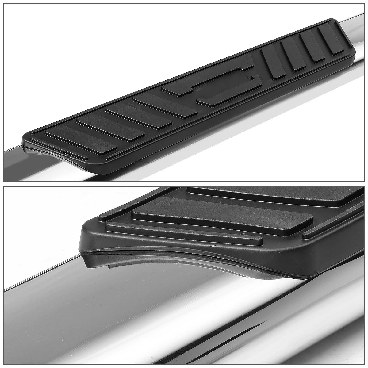 Black For Ford F150 10th Gen Supercrew Cab 3 Side Step Nerf Bar Running Board