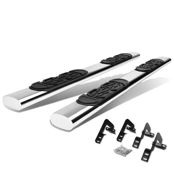 01-03 Ford F150 Supercrew Cab Stainless 6-inch Chrome Oval Side Step Nerf Bar