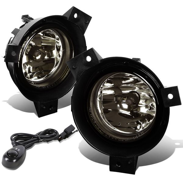 01-03 Ford Ranger Pickup Smoked Lens OE Bumper Fog Light Lamp Pair+Switch