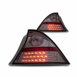 Winjet 2001-2003 Honda Civic 2-Door Coupe Performance LED Tail Lights - Smoked