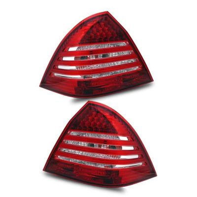01-03 Mercedes Benz W203 C Class Euro Style LED Tail Lights - Red Clear