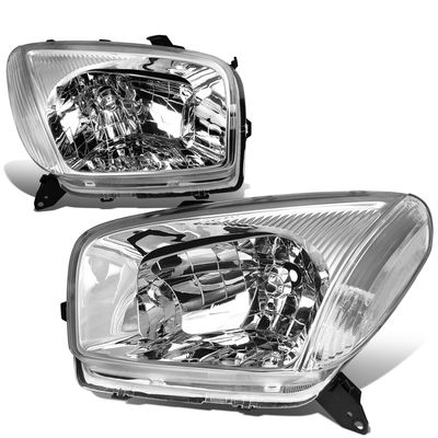 01-03 Toyota RAV4 OE-Style Replacement Headlights  - Chrome / Clear