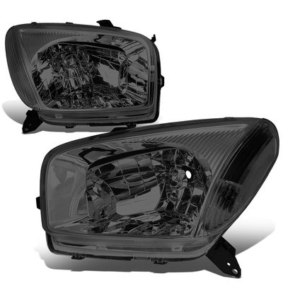 01-03 Toyota RAV4 OE-Style Replacement Headlights  - Smoked Clear