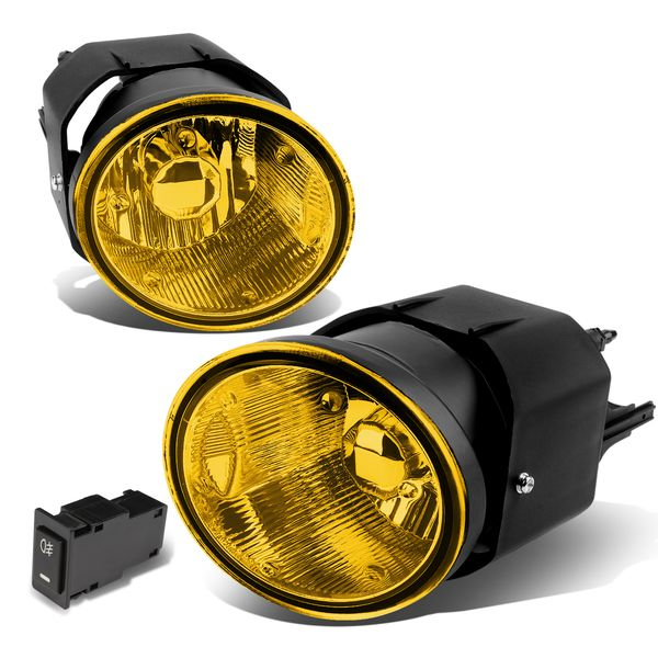 01-04 Nissan Frontier/Sentra Yellow Lens Oe Driving Pair Fog Lights Lamp+Switch
