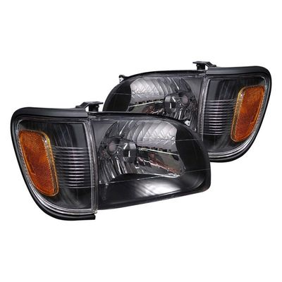 01-04 Toyota Tacoma Crystal Replacement Headlights - Black