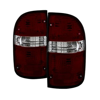 01-04 Toyota Tacoma OEM Style Tail Lights - Red Smoked