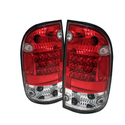 01-04 Toyota Tacoma Pickup Euro LED Tail Lights - Red / Clear ALT-YD-TT01-LED-RC By Spyder