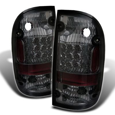 01-04 Toyota Tacoma Pickup Euro LED Tail Lights - Smoked ALT-YD-TT01-LED-SM By Spyder