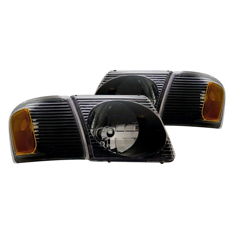 Ford Explorer Sport Trac Only Crystal Replace Headlights Set Black Click To Enlarge