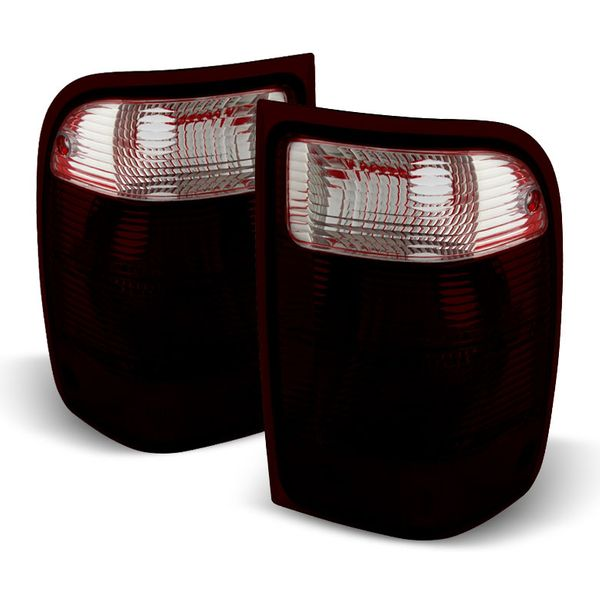 01-05 Ford Ranger [Non STX model] OEM Style Replacement Tail Lights  Pair - Smoked