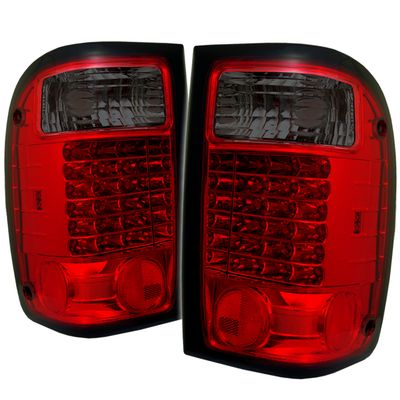 01-05 Ford Ranger Pickup LED Altezza Tail Lights - Red / Smoked ALT-YD-FR98-LED-RS By Spyder