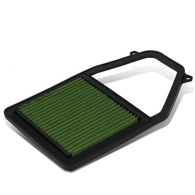 01-05 Honda Civic 1.7L Reusable & Washable Replacement High Flow Drop-in Air Filter (Green)