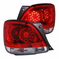 01-05 Lexus GS300 GS400 Euro Style LED Tail Lights - Red / Clear