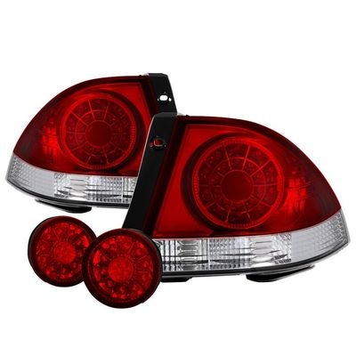 01-05 Lexus IS300 LED Tail Lights + Trunk Piece - Red Clear