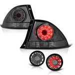 01-05 Lexus IS300 LED Tail Lights + Trunk Piece - Smoked